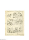 Original Comic Art:Miscellaneous, Hal Foster - Prince Valiant Preliminary Original Art (1973). Here are Hal Foster's original layouts to our previous lot, the...