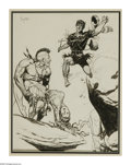 Original Comic Art:Sketches, Frank Frazetta - Indian Fighter Illustration Original Art (undated). Frank Frazetta's savage battle scene recalls the explos...