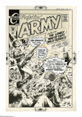 Original Comic Art:Covers, Sam Glanzman - Fightin' Army #89 Cover Original Art (Charlton,1969). Nazi youth strike back in this cover from Fightin' A...