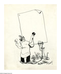 Original Comic Art:Sketches, Rube Goldberg - Doctor with Stethoscope Illustration Original Art (undated). Rube Goldberg had a thing for gadgets. He earne...