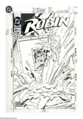 Original Comic Art:Covers, Tom Grummett and Ray Kryssing - Robin #5 Cover Original Art (DC,1994). The Boy Wonder finds himself locked in an armored tr...