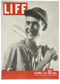 "Baseball Collectibles:Publications, 1941 Ted Williams ""Life"" Magazine One of the classic Lifemagazine issues due not only to its subject matter, the might..."