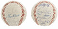 Autographs:Baseballs, 1990 and 1991 Montreal Expos Team Signed Baseballs Lot of 2. Greatpair of baseballs that we offer here come one each from ...