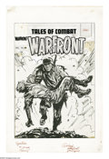 Original Comic Art:Covers, Fred Kida (attributed) - Warfront #29 Cover Original Art (Harvey,1955). This war-torn cover features a vigorous use of the ...