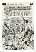 "Original Comic Art:Covers, Jack Kirby and Frank Giacoia - The Invaders #4 Cover Original Art(Marvel, 1976). ""U-Man Must be Stopped"", and the ""big thre..."