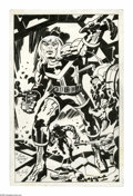 Original Comic Art:Splash Pages, Jack Kirby and Roz Kirby - Captain Victory Pin-Up Page Original Art(1982). Comics giant, Jack Kirby penciled, and his wife,...