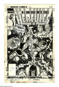 Original Comic Art:Covers, Bob Layton - Hercules V2#2 Cover Original Art (Marvel, 1984). RedWolf stalks the stars and Hercules is there to grapple wit...