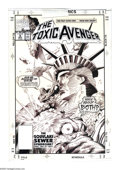 "Original Comic Art:Covers, Val Mayerik - Toxic Avenger #8 Cover Original Art (Marvel, 1991).Give me souvlaki or give me death! The ""hideously deformed..."