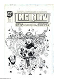 Original Comic Art:Covers, Todd McFarlane and Tony DeZuniga - Infinity, Inc. #14 CoverOriginal Art (DC, 1985). This is an issue of firsts! Not only is...