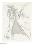 Original Comic Art:Sketches, Todd McFarlane - The Shadow Sketch Original Art (undated). Famous for his drastic redesign of Spider-Man and other character...