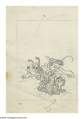 "Original Comic Art:Sketches, Walt Disney Studio Artist - ""Mickey Mouse Club Stamp Book"" Preliminary Drawing Original Art, Group of 8 (Western, 1956). Eig... (Total: 9 Items)"