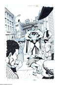 Original Comic Art:Splash Pages, Ariel Olivetti - Superman #179, Splash Page 6 Original Art (DC,2002). A new superhero named Muhammad X is patrolling the st...