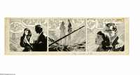 Alex Raymond - Rip Kirby Daily Comic Strip Original Art, dated 6-7-54 (King Features Syndicate, 1954). Pagan Lee and Rip...