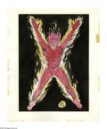 Original Comic Art:Splash Pages, Don Rico - Human Torch Pin-Up Illustration Original Art (undated).Flame on with the original Golden Age Torch! Don Rico was...