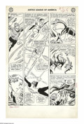 Original Comic Art:Panel Pages, Mike Sekowsky and Bernard Sachs - Justice League of America #7,page 5 Original Art (DC, 1961). Two large panels spotlight A...