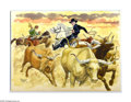 Original Comic Art:Sketches, Dan Spiegle - Hopalong Cassidy Specialty Illustration Original Art (2003). Yee-haw, buckaroos, here's a rip-snortin specialt...