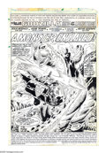 Original Comic Art:Splash Pages, Herb Trimpe - Godzilla #6, Splash Page 1 Original Art (Marvel,1978). Deep in the mountains of northern California, S.H.I.E....