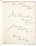 Autographs:U.S. Presidents, Abraham Lincoln, Andrew Johnson, and House Colleagues SignedAutograph Album. ...