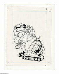 Western Publishing Staff Artist - Underdog Cover Original Art Group (Gold Key, 1975). There's no need to fear -- Underdo...