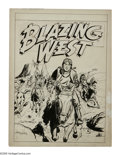 Original Comic Art:Covers, Ogden Whitney - Blazing West Cover Original Art (ACG, circa 1950)..Perhaps best known for his work on such characters as Sk...