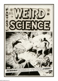 "Original Comic Art:Covers, Wally Wood - Weird Science #21 Cover Original Art (EC, 1953). Fewscience fiction/fantasy ""cover hooks"" are used as often as..."