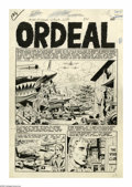 """Original Comic Art:Complete Story, Wally Wood - Aces High #5, Complete 7-Page Story, """"Ordeal"""" OriginalArt (EC, 1953). Although perhaps most celebrated for his..."""