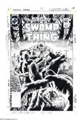 Original Comic Art:Covers, Tom Yeates - The Saga of the Swamp Thing #18 Cover Original Art(DC, 1983). The quiet serenity of a graveyard is shattered a...