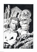 Original Comic Art:Covers, Mike Zeck and John Beatty - Captain America #286 Cover RecreationOriginal Art (2002). Mike Zeck never ceases to amaze with ...