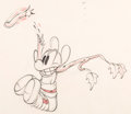 Animation Art:Production Drawing, Mickey's Rival Mickey Mouse Animation Drawing (Walt Disney,1936). ...