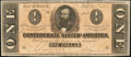 Confederate Notes:1864 Issues, T71 $1 1864 PF-14 Cr. 574A.. ...