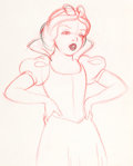 Animation Art:Production Drawing, Snow White and Seven Dwarfs Snow White Layout Drawing (WaltDisney, 1937). . ...