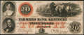 Obsoletes By State:Kentucky, Frankfort, KY- Farmers Bank of Kentucky $20 Aug. 3, 1859. ...