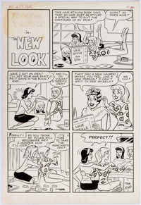 Dan DeCarlo and Rudy Lapick Pep #179 Complete 1-Page Story Original Art (Archie Comics, 1965)