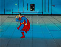 Animation Art:Production Cel, Super Friends Superman Production Cel (Hanna-Barbera, c.1970s-1980s). ...
