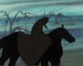 Animation Art:Production Cel, Lord of the Rings Dark Rider Production Cel (Ralph Bakshi,1978)...