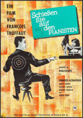 """Movie Posters:Foreign, Shoot the Piano Player (Neue Filmverleih, 1960). German A1 (23.25"""" X 33""""). Foreign.. ..."""