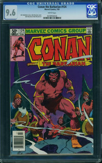 Conan the Barbarian #124 (Marvel, 1981) CGC NM+ 9.6 White pages