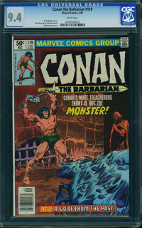 Conan the Barbarian #119 (Marvel, 1981) CGC NM 9.4 White pages