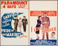 "Movie Posters:War, Pride of the Marines & Others Lot (Warner Brothers, 1945).Window Cards (2) (14"" X 22""). War.. ... (Total: 2 Items)"