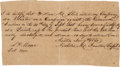 Autographs:Military Figures, [Dawson Massacre]. Nicholas Dawson Autograph Document Signed....
