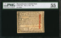 Colonial Notes:Massachusetts, Massachusetts May 5, 1780 $20 PMG About Uncirculated 55.. ...