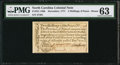 Colonial Notes:North Carolina, North Carolina December, 1771 2s6d House PMG Choice Uncirculated63.. ...