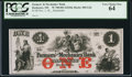 Obsoletes By State:New Hampshire, Rochester, NH- Farmers' and Mechanics' Bank $1 Nov. 1, 18__ G2d Remainder. ...