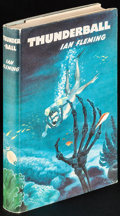 """Movie Posters:James Bond, Thunderball by Ian Fleming & Other Lot (The Book Club, 1961). First Edition British Hardcover Books (2) (Multiple Pages, 5"""" ... (Total: 2 Items)"""