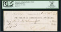 Obsoletes By State:Nevada, Virginia City, Nevada (Territory)- C.S. Strong at Stateler & Arrington, Bankers $20 Oct. 10, 1863. ...