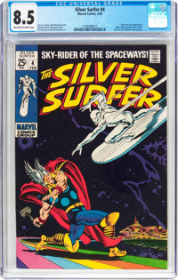 The Silver Surfer #4 (Marvel, 1969) CGC VF+ 8.5 Off-white to white pages