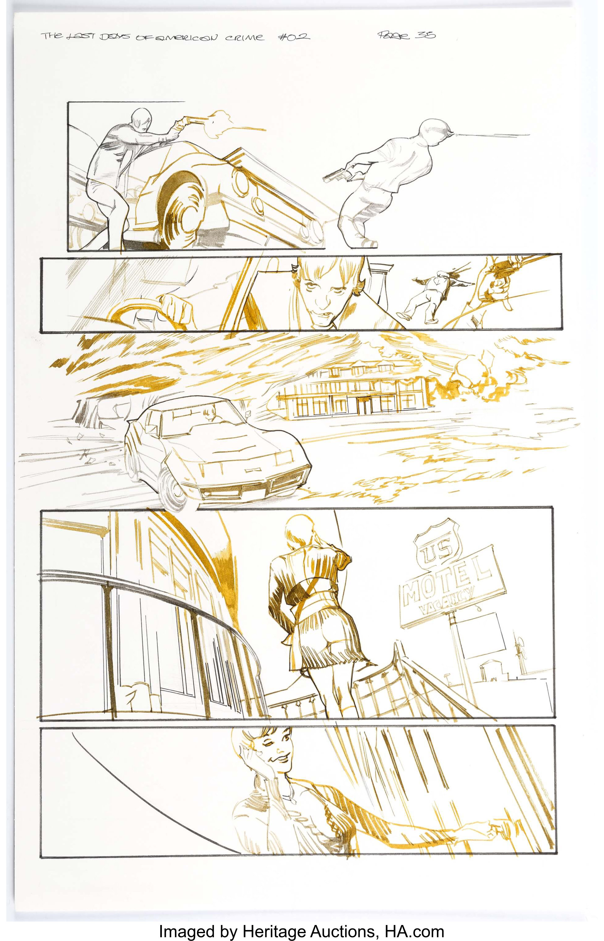 Greg Tocchini Last Days Of American Crime 2 Story Page 35 Original Lot 14116 Heritage Auctions