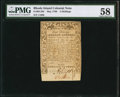 Colonial Notes:Rhode Island, Rhode Island May 1786 5s PMG Choice About Unc 58.. ...
