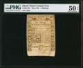 Colonial Notes:Rhode Island, Rhode Island May 1786 6s PMG About Uncirculated 50 EPQ.. ...