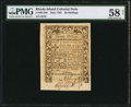 Colonial Notes:Rhode Island, Rhode Island May 1786 20s PMG Choice About Unc 58 Net.. ...